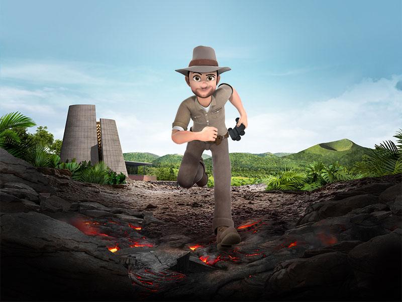 Animations Emotions du Parc sur les volcans