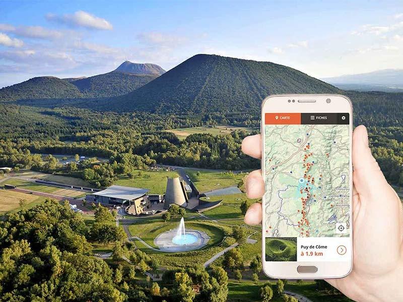 De smartphone-app 'Volcans d'Auvergne'
