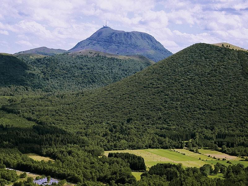 Wandelingen op in het natuurgebied van de Volcans d'Auvergne