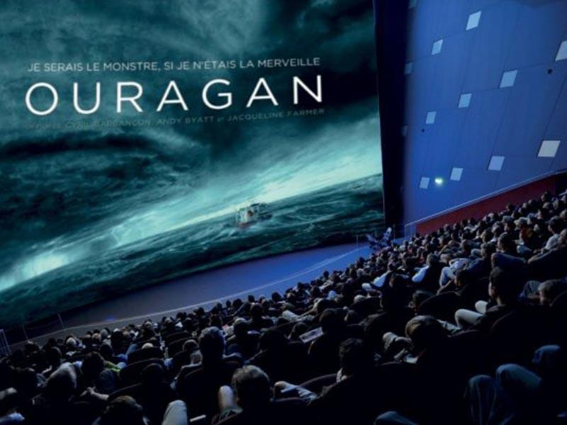 Film Ouragan à découvrir du 15 septembre au 22 octobre 2021 sur écran géant à Vulcania