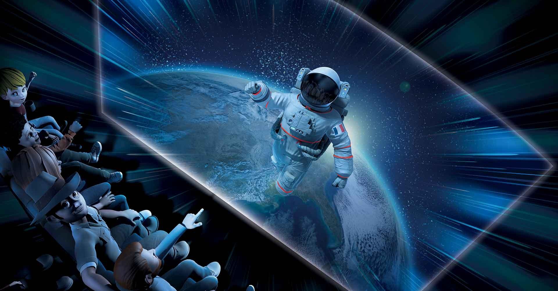 Animations La Terre dans l'Espace Parc Vulcania