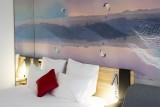 Hôtel Novotel - chambre lit double et canapé-lit